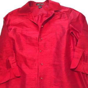Lauren Ralph Lauren Red Silk Jacket
